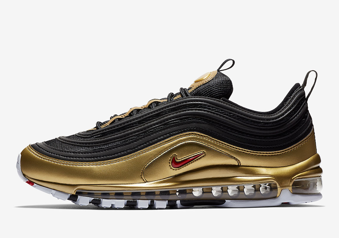 43ae6ea26e Nike Air Max 97 QS Release Date: November 9th, 2018 $180. Color:  White/Varsity Red-Metallic Silver-Black Style Code: AT5458-100