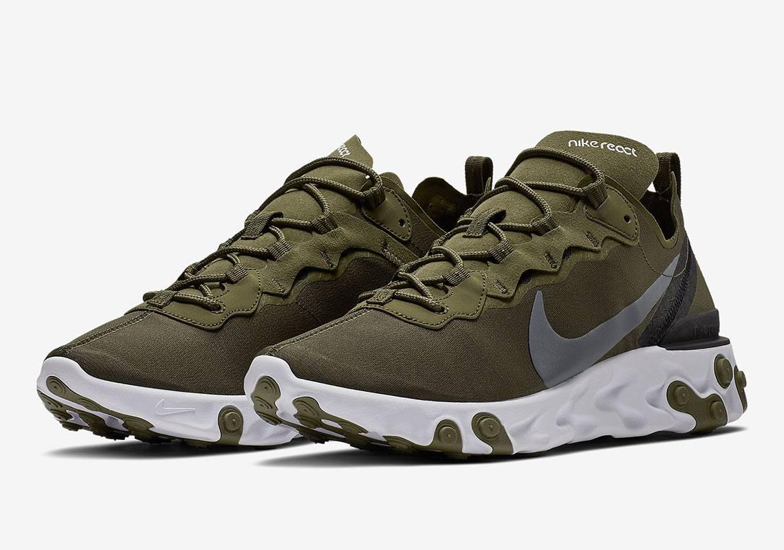 5868144752d0 The Nike React Element 55 Is Coming Soon In Olive