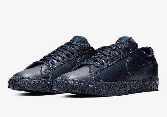 The Nike Blazer Low Arrives In A Tonal Navy