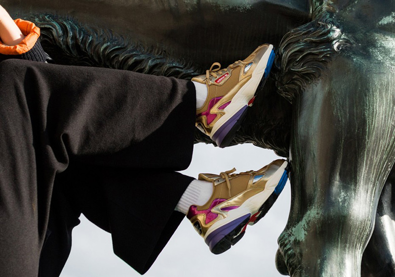 The Popular adidas Falcon Appears In Metallic Gold