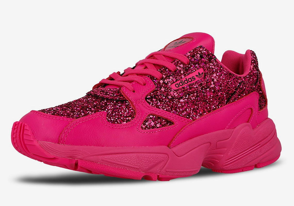 new arrival b3236 81092 The adidas Falcon Appears In Hot Pink Sequins
