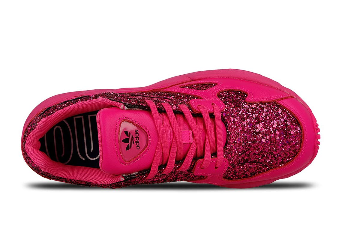 pretty nice 8023b 27594 adidas Falcon Pink Sequins Release Date + Store List  Sneake