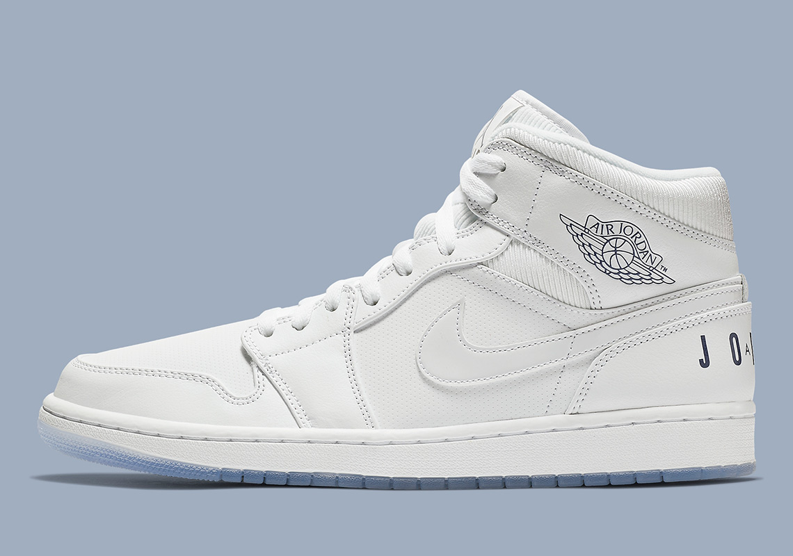 99d145b58b9320 Air Jordan 1 Mid Pure White BQ6578-100