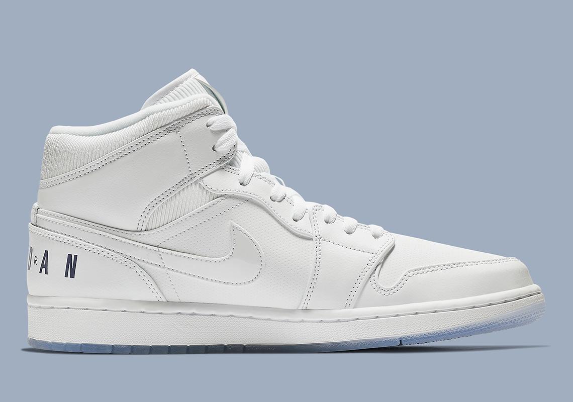 Air Jordan 1 Mid Pure White BQ6578-100  0a31e9c20