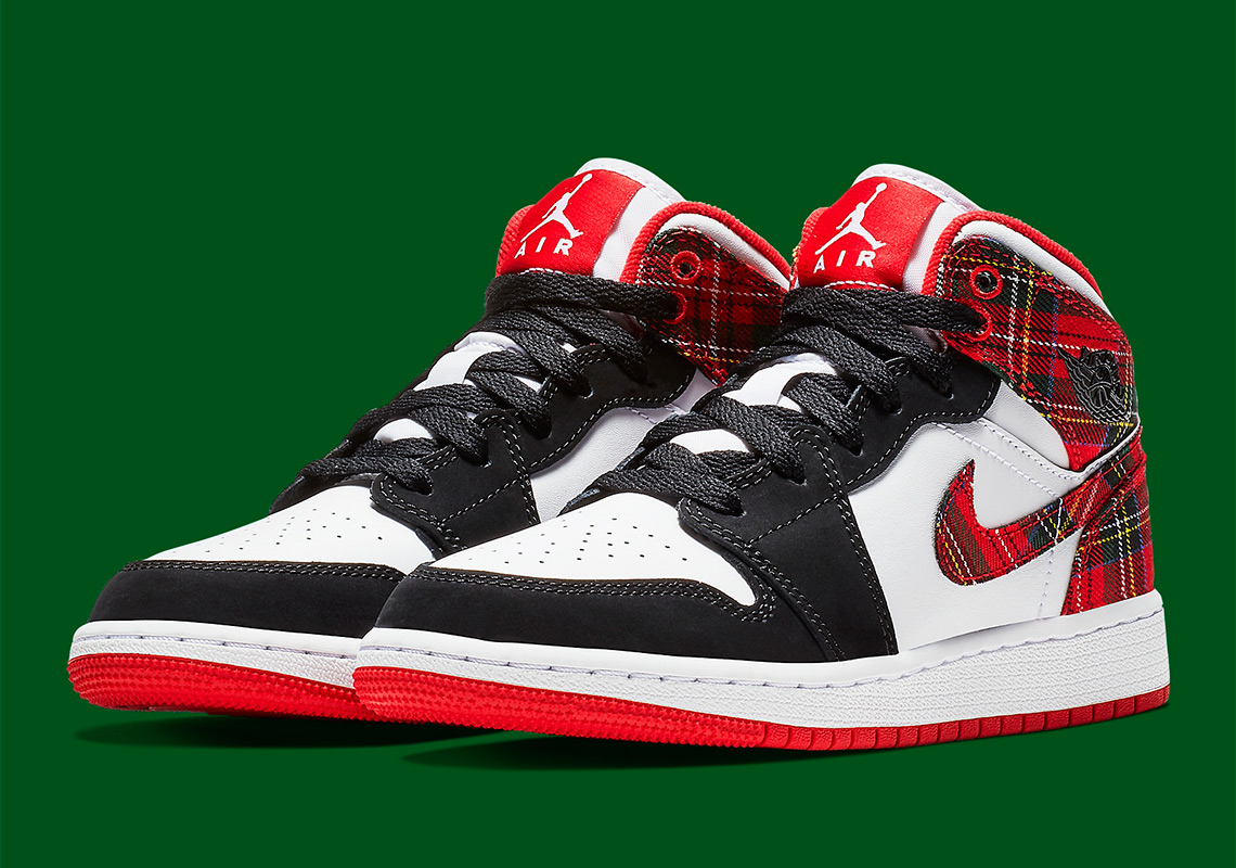 3f8740b8cb64c8 The Air Jordan 1 Mid To Release With A Seasonal Plaid