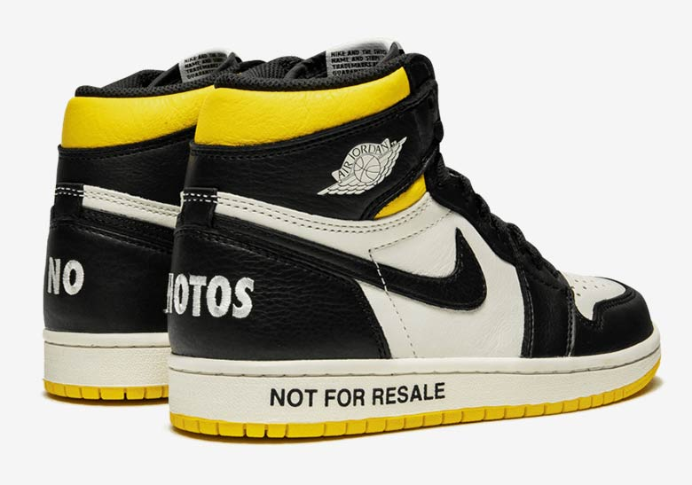 Jordan 1 Not For Resale Yellow Release