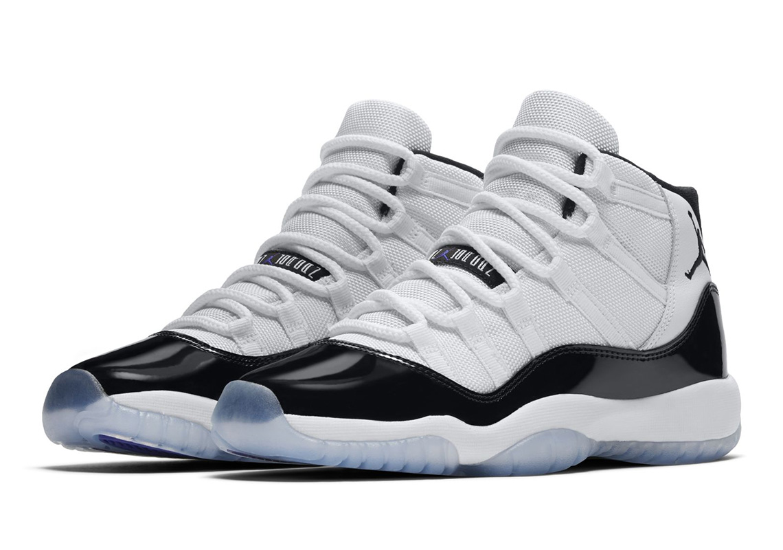 "0d11e794e3613b Official Images Of The Air Jordan 11 ""Concord"" In Grade School Sizes"