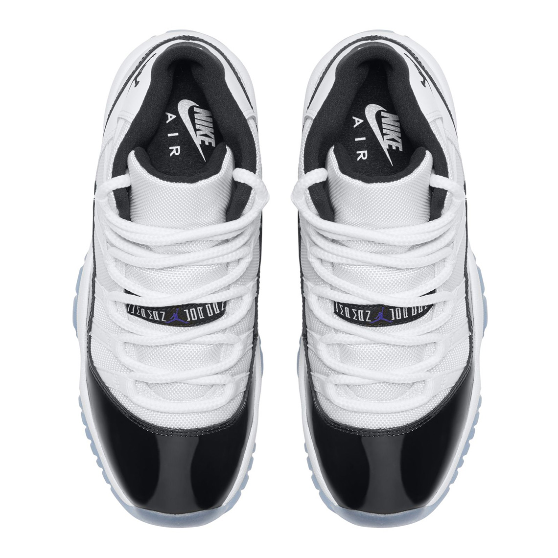 """new arrival 43990 95e25 Official Images Of The Air Jordan 11 """"Concord"""" In Grade School Sizes"""