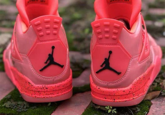 """The Air Jordan 4 Brings Back Patent Leather With """"Hot Punch"""""""