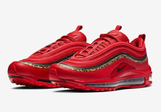 Nike Creates A Racy Air Max 97 In Red Leather And Leopard Prints