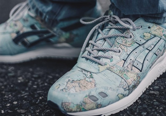 atmos Puts A World Map On Their Next ASICS Gel Lyte 3 Collaboration