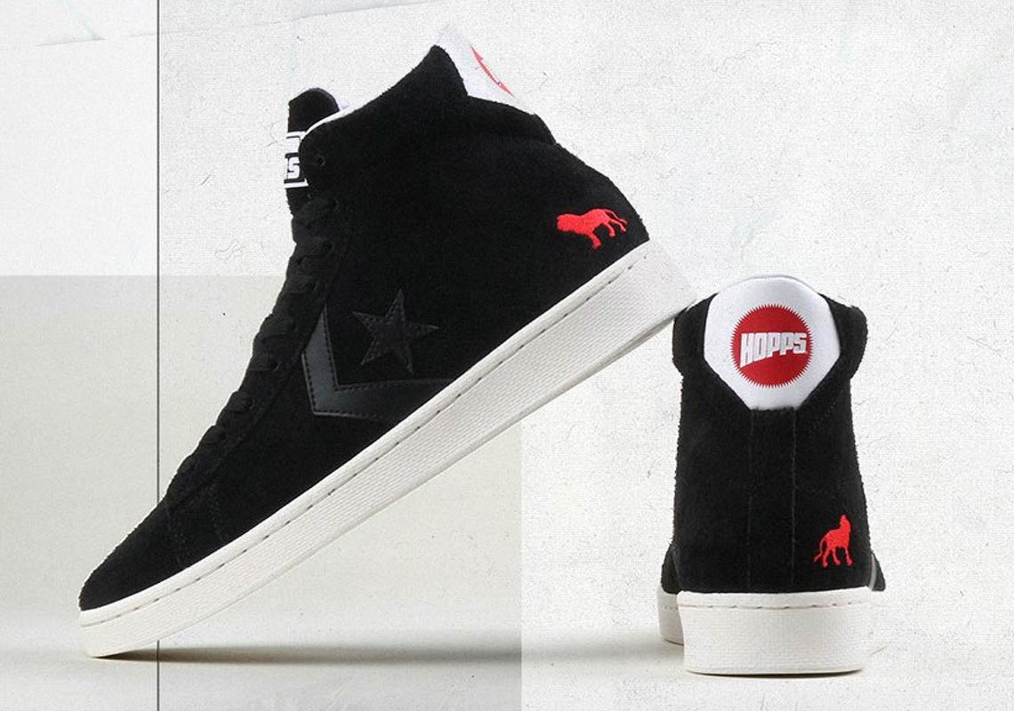 Chaussure Converse Cons X Hopps Pro Leather High Top Black White