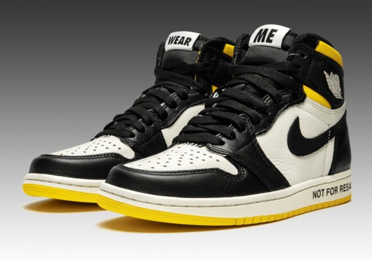 "Air Jordan 1 ""Not For Resale"" In Yellow Releases On November 14th"