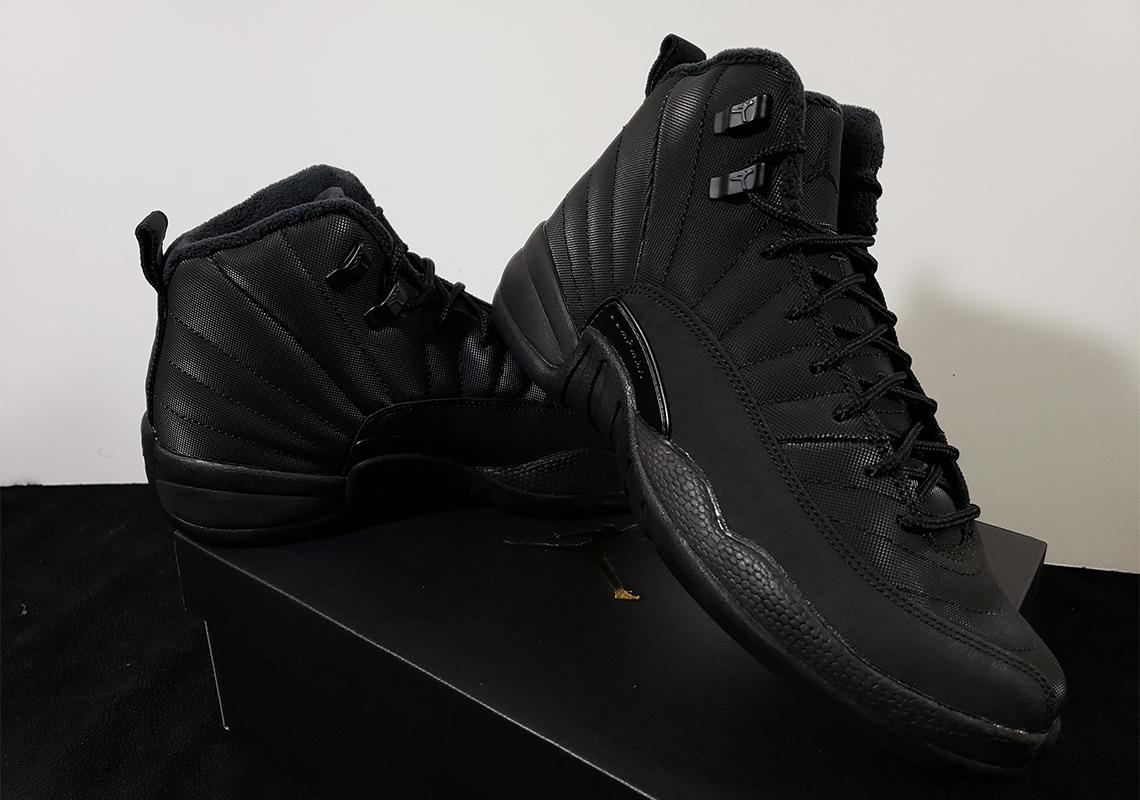 94f5abacdf9c0e Jordan 12 GS Winterized Black Release Info