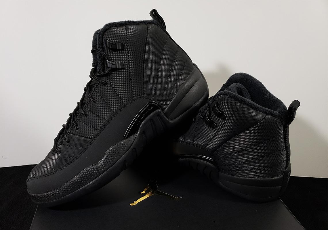 1ad7ee9117875f Jordan 12 GS Winterized Black Release Info