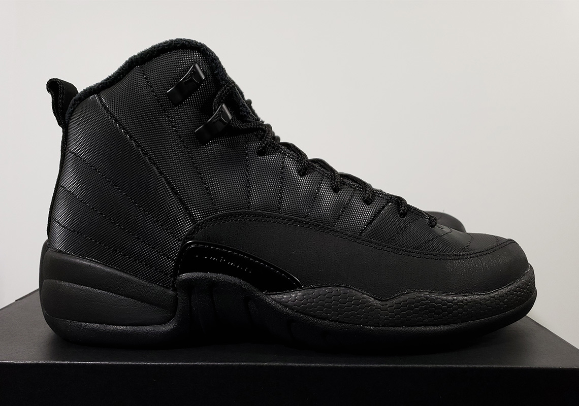 "e8a8bc575b868e First Look At The Air Jordan 12 Winterized ""Triple Black"""