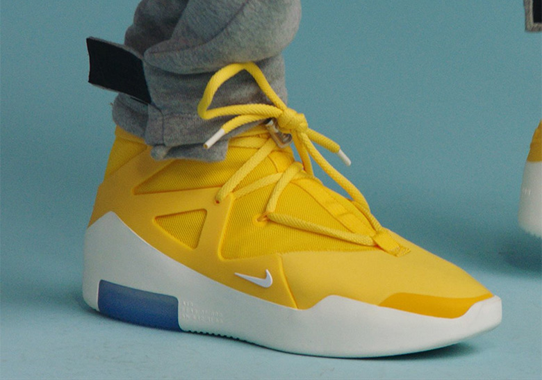 Nike Air Fear Of God 1 Yellow Release