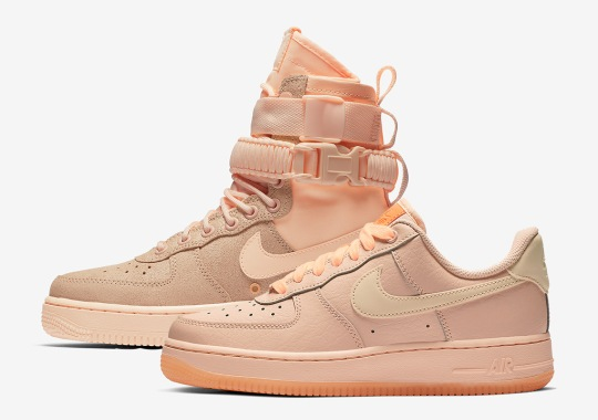 d4a46f1b7f Nike Offers Up Two Air Force 1 Styles In Crimson Tint