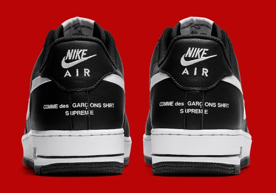 """Supreme, COMME des Garçons SHIRT, And Nike To Drop Air Force 1 """"Split Swoosh"""" This Month"""