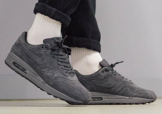 """A Stealthy Nike Air Max 1 Premium """"Triple Anthracite"""" Has Arrived"""