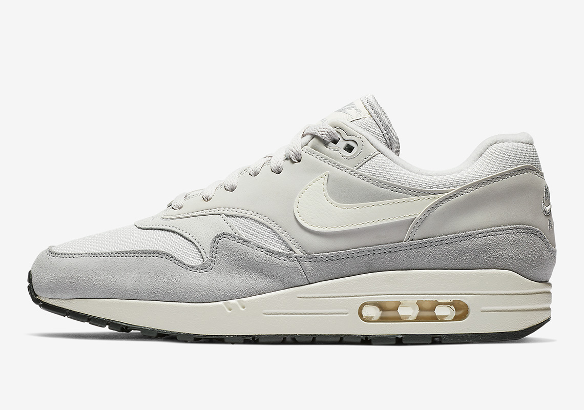 7938d9a1b7165 The Nike Air Max 1 Arrives In A Crisp Grey And White