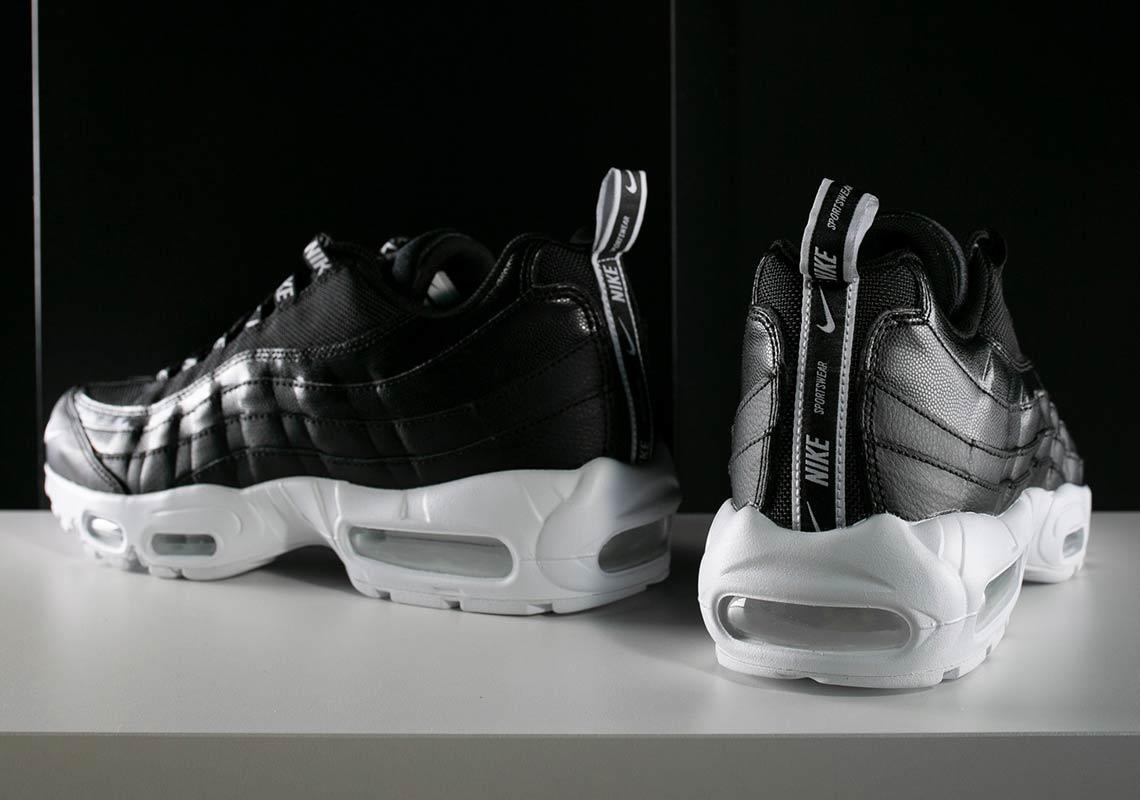 air max 95 premium overbranded noire et blanche