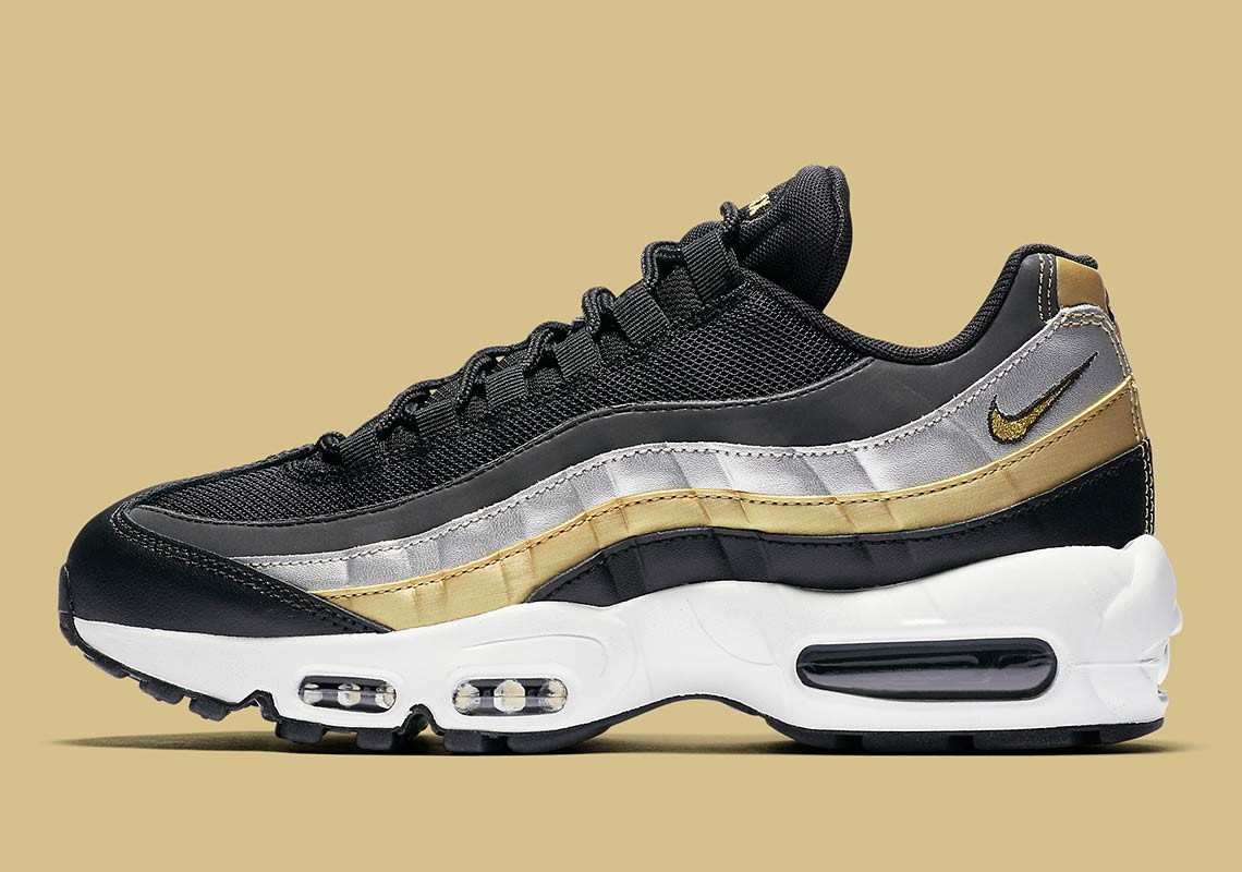 buy popular aacfe f6e01 Nike Air Max 95 Metallic Gold + Silver BQ4554-001 ...