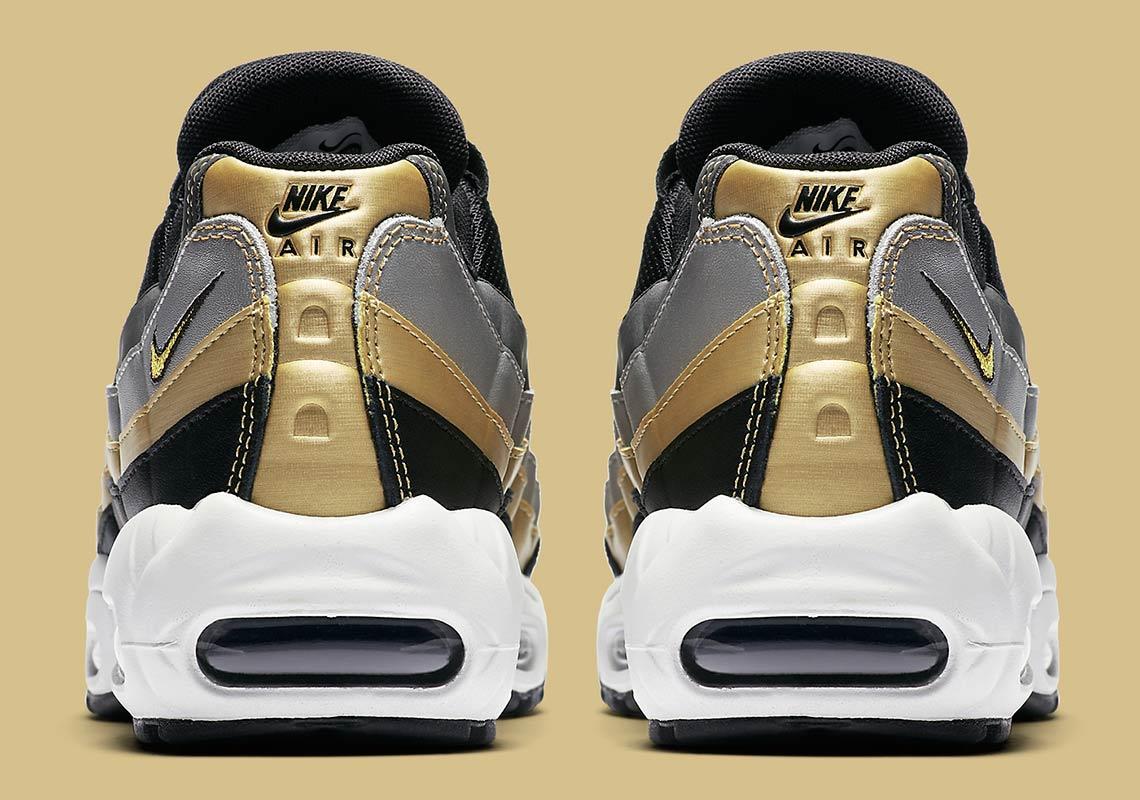 Nike Air Max 95 Metallic Gold + Silver BQ4554 001