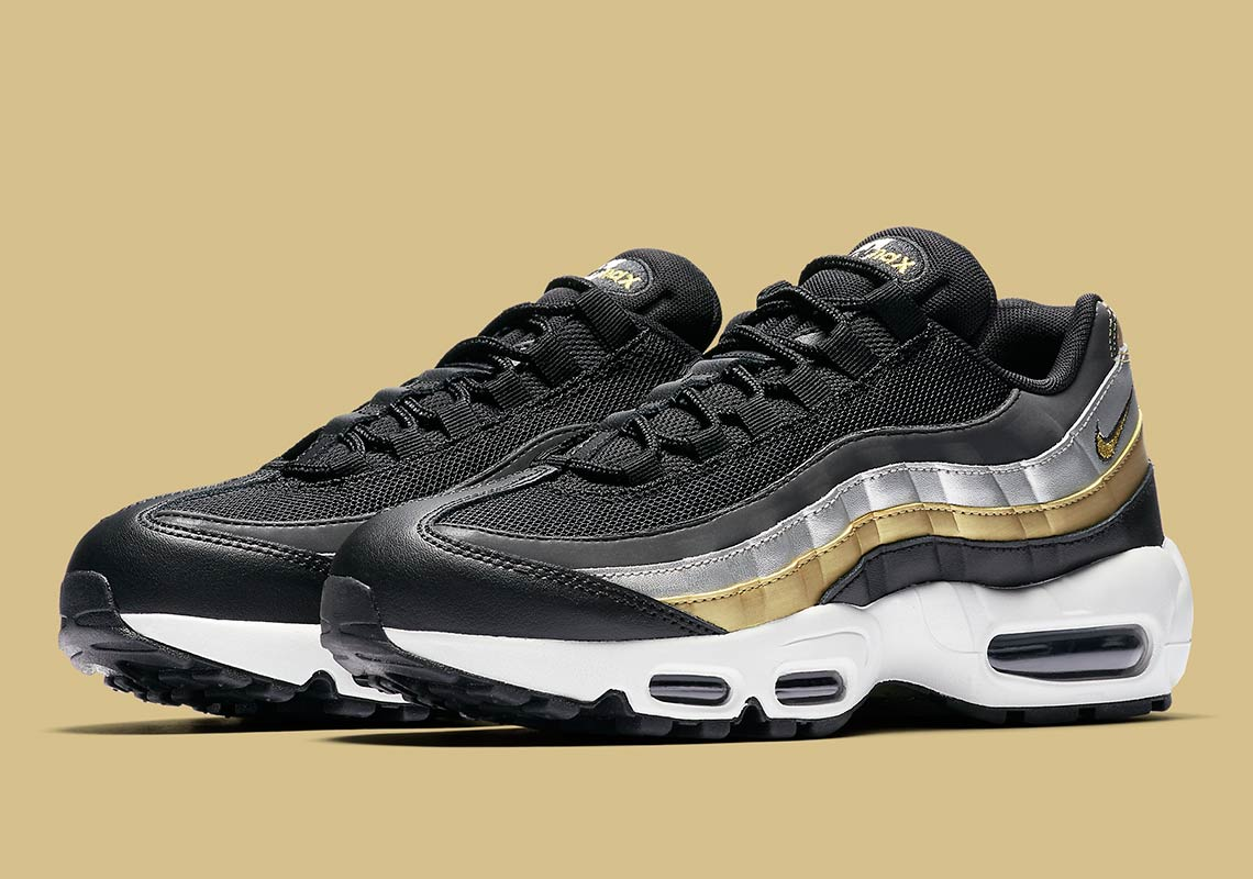 new product f0e5e 4e9e8 Nike Adds Metallic Gold And Silver To The Air Max 95