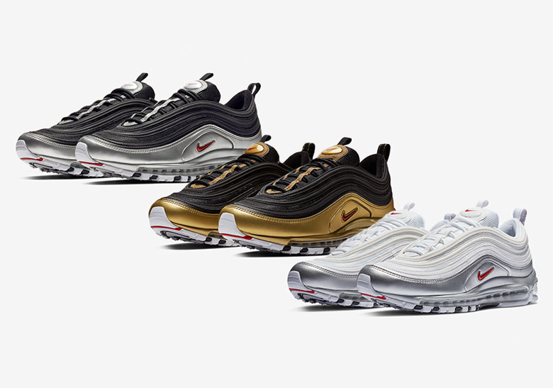 27b2e9b3717e0 Nike Air Max 97 B Sides Metallic Pack Where To Buy