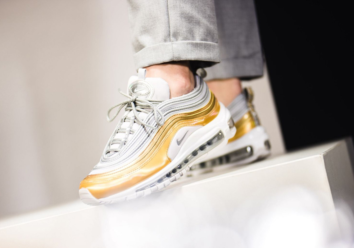 e0d392d90cd27 Advertisement. Nike Air Max 97. Release Date: November 15th, 2018 $180.  Color: Vast Grey/Metallic Silver-Metallic Gold
