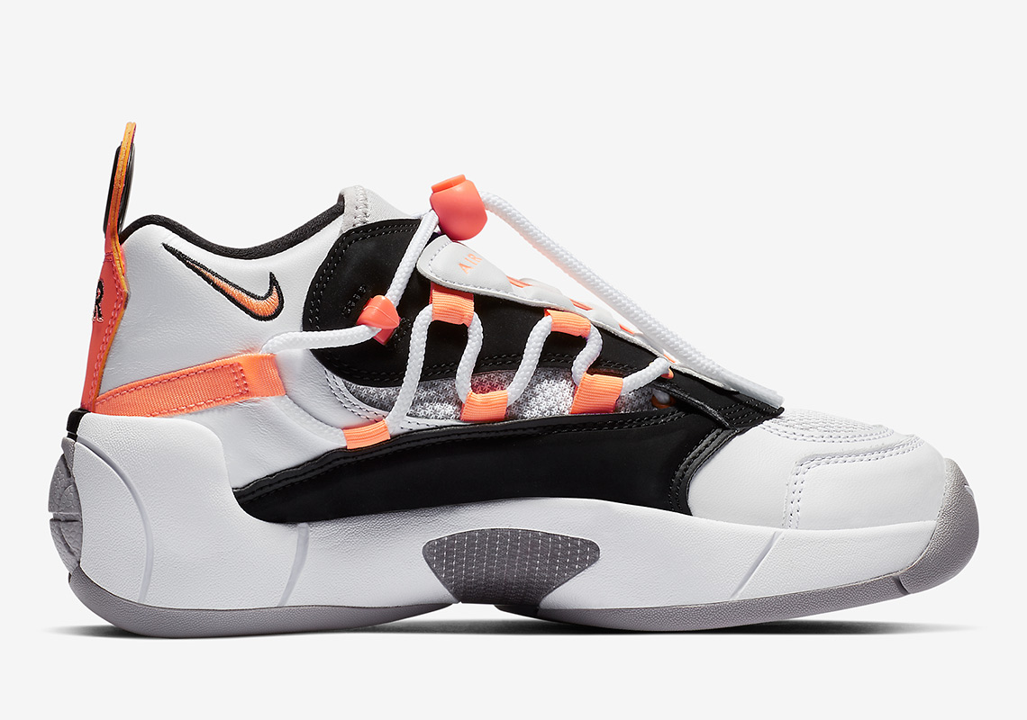 09ad01a5b0e Nike Air Swoopes II Color  White Black White Orange Pulse Style Code  917592 -102. Where to Buy. Nike UK Available