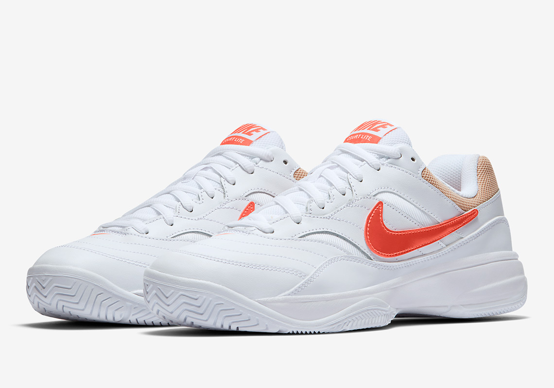 2993f8635ec The Tennis-Inspired Nike Court Lite Arrives With Orange And Tan