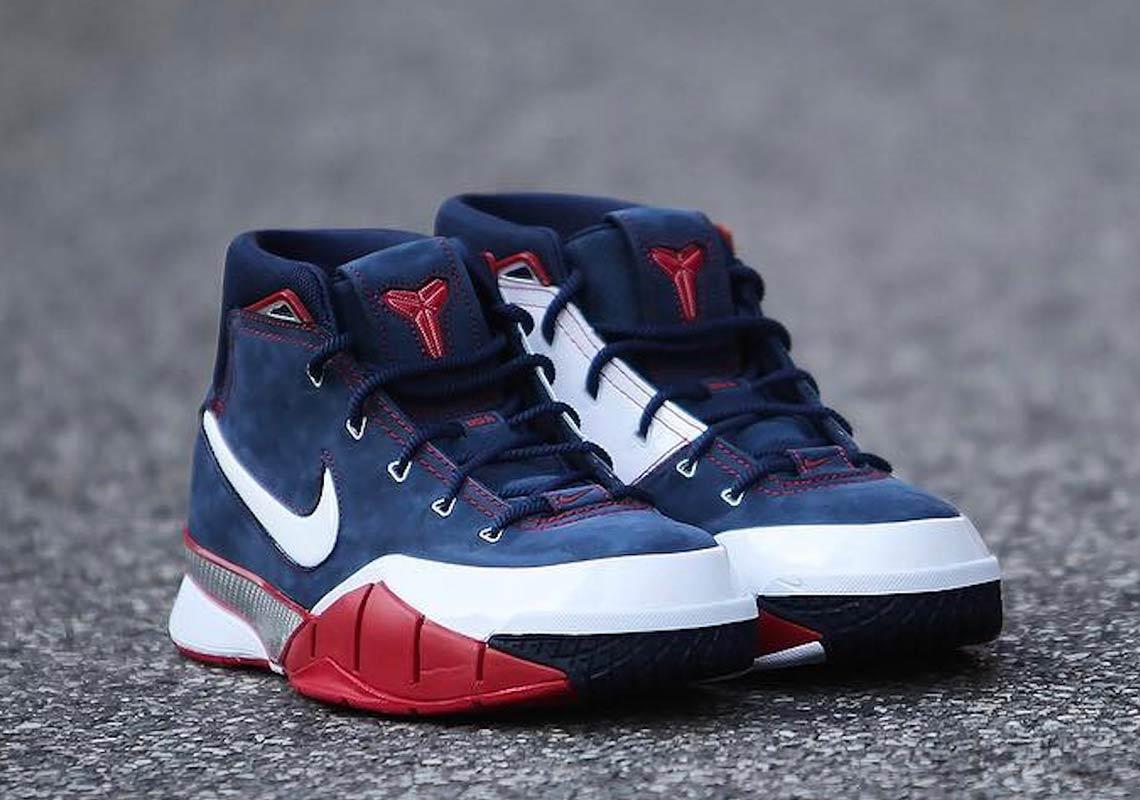 783a4aa94c79 Nike Kobe 1 Protro USA  175. Color  Midnight Navy White-Varsity Red Style  Code  AQ2728-400