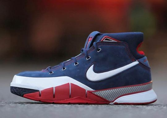 "d3aade67a841 Detailed Look At The Nike Zoom Kobe 1 Protro ""USA"""