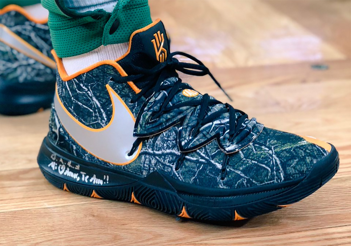 best website fccc3 8839b Kyrie Irving Debuts Nike Kyrie 5 PE, A Collaboration With Taco Of Odd Future