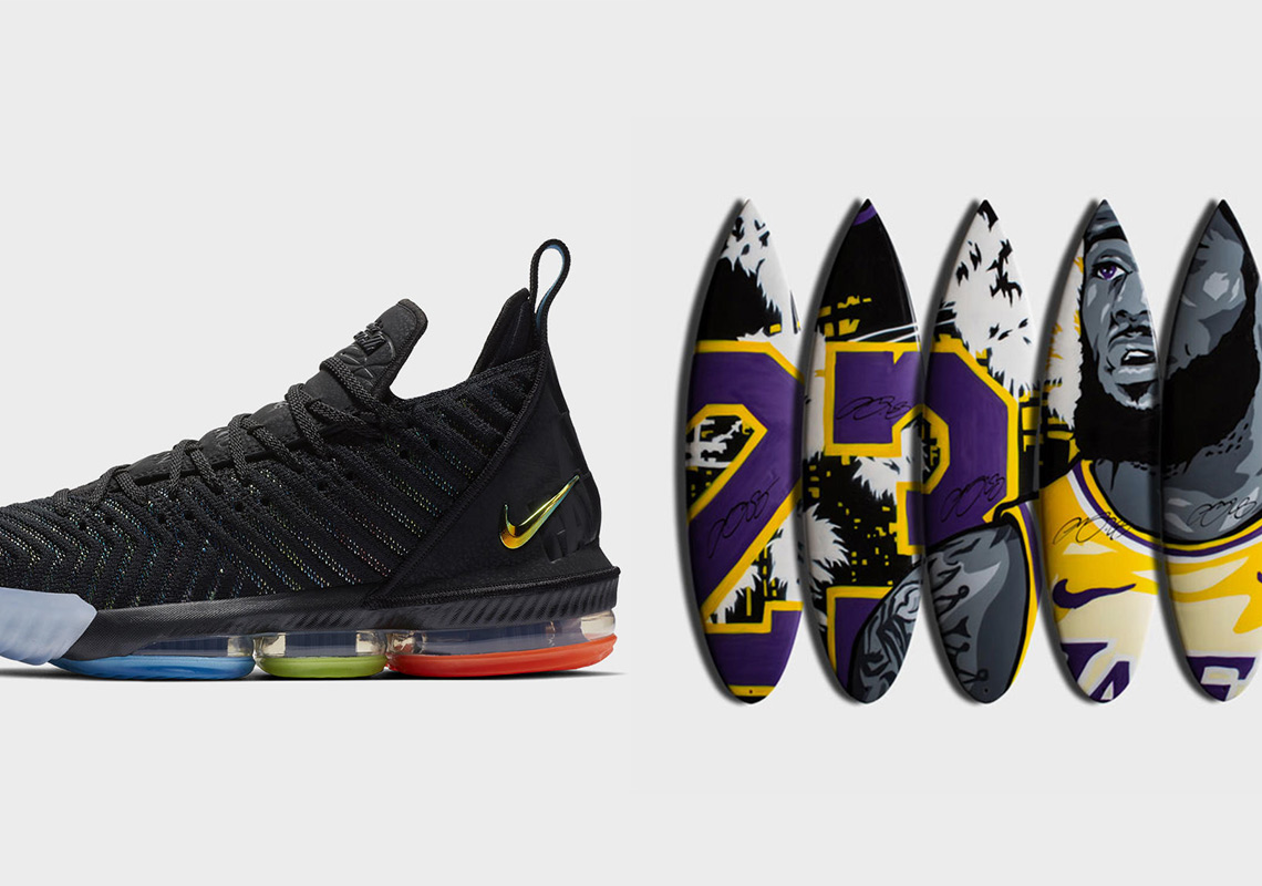 "ab717e79d8d8 Nike To Raffle The LeBron 16 ""I Promise"" With A Custom Surfboard To Raise  Funds For School"