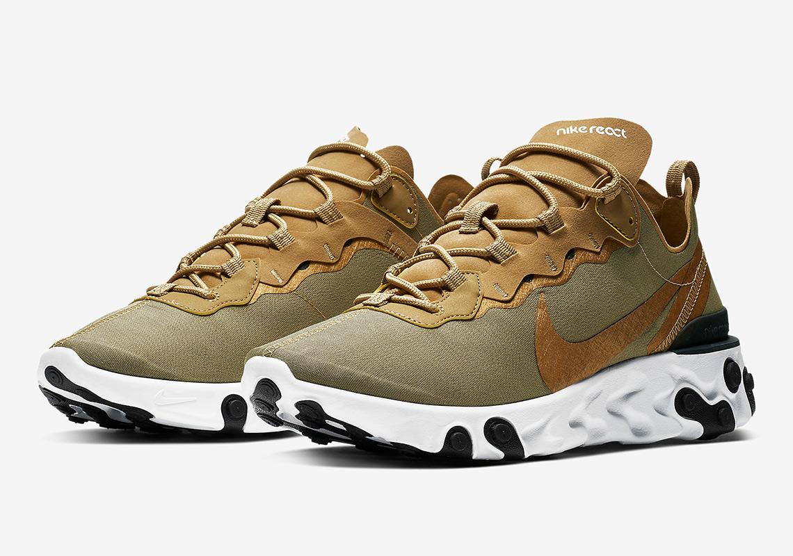 Nike React Element 55 Metallic Gold