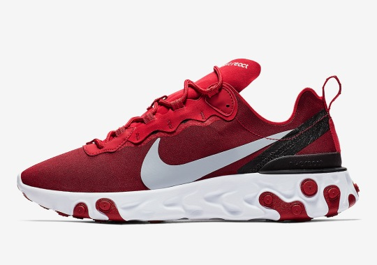 The Nike React Element 55 Is Dropping In Red