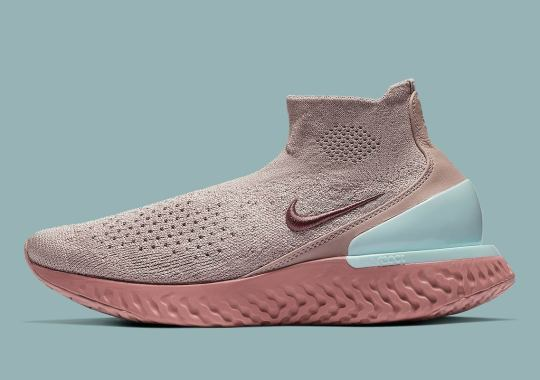 Sultry Pink Tones Come To The Nike Rise React Flyknit