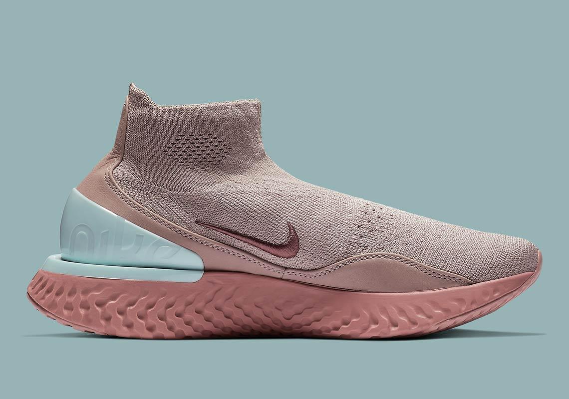 6371e23ef5e02 Nike Rise React Flyknit Women s Pink AV5553-226