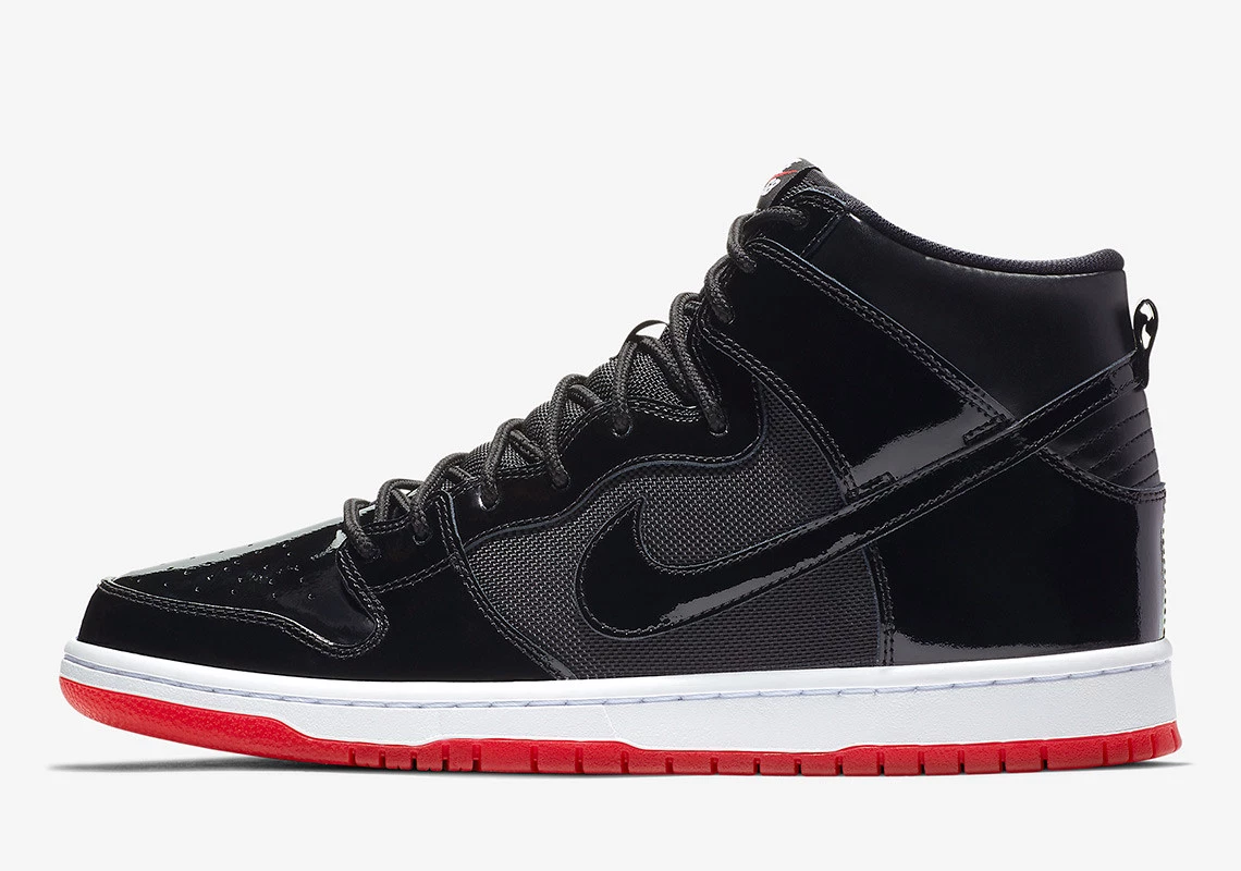 "sports shoes 57d95 f56f7 Nike SB Dunk High ""Bred"" Release Date November 21st, 2018. STORE LIST  110. Color BlackBlack-White-Varsity Red"