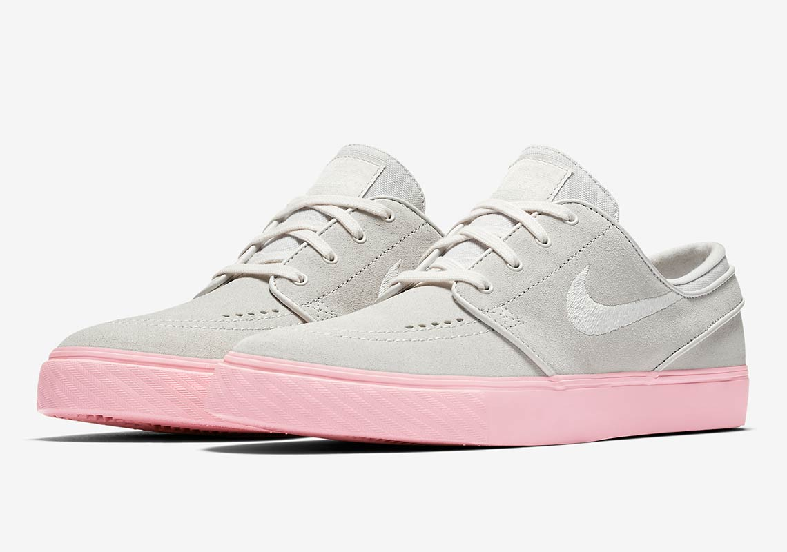 best loved 78d83 0bbb3 Bubblegum Pink Soles Come To The Nike SB Janoski