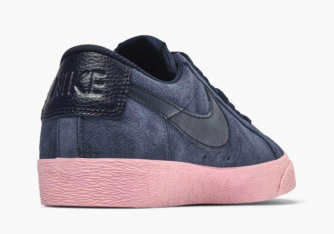 Nike SB Blazer Low Navy + Pink Store Links  eb0809a89