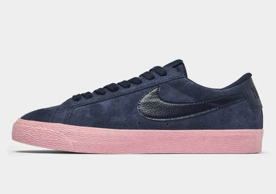 The Nike SB Blazer Low Arrives In Navy And Pink