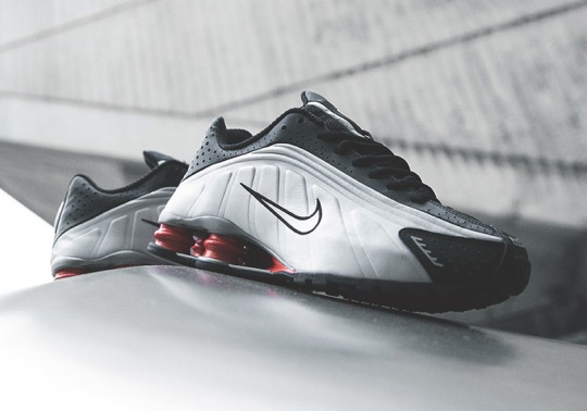 The Nike Shox R4 Returned In The OG Black And Silver