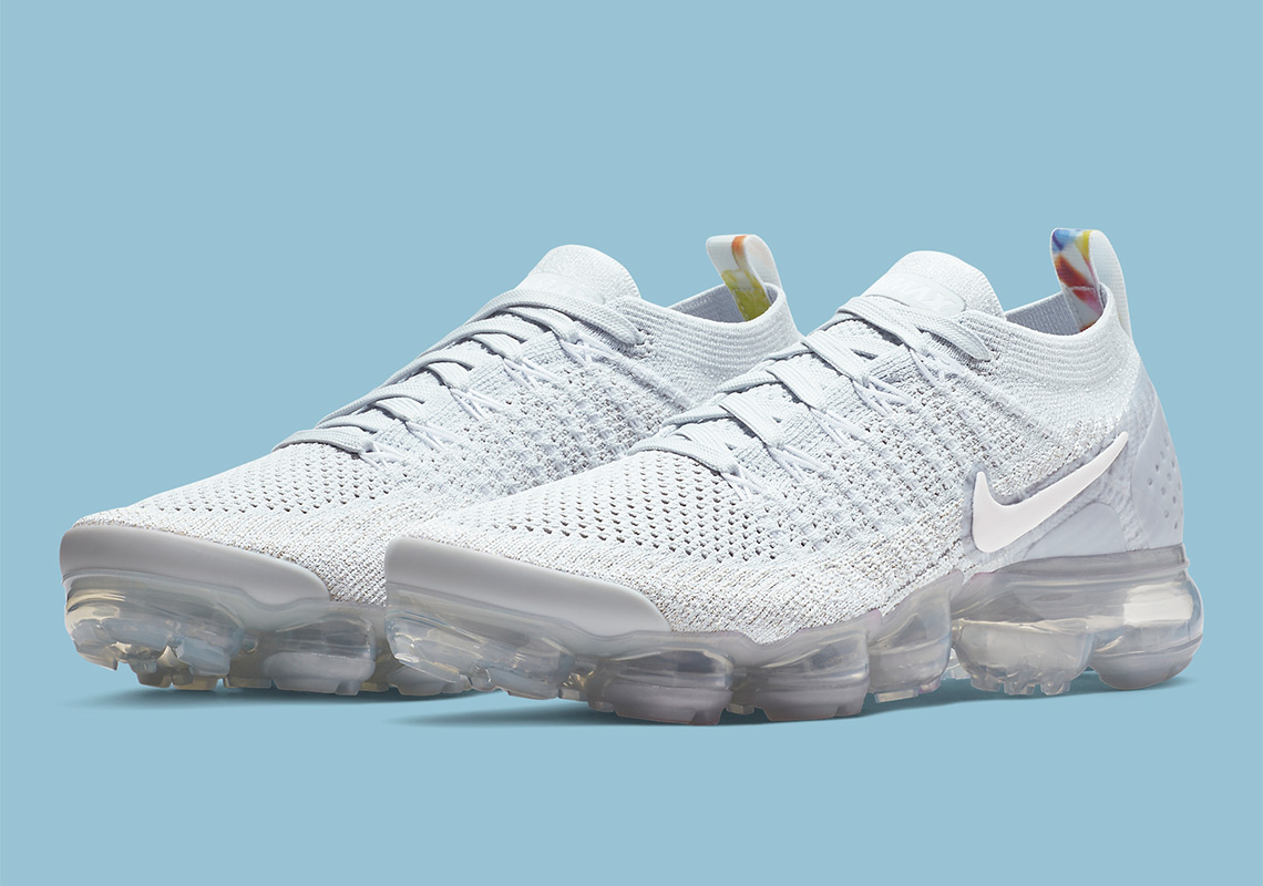 "569594ba6e623 Nike Vapormax Flyknit 2 ""Pure Platinum"" Arrives With Floral Accents"
