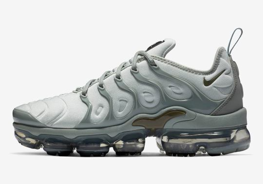 The Nike Vapormax Plus Arrives In A Light Grey For Women