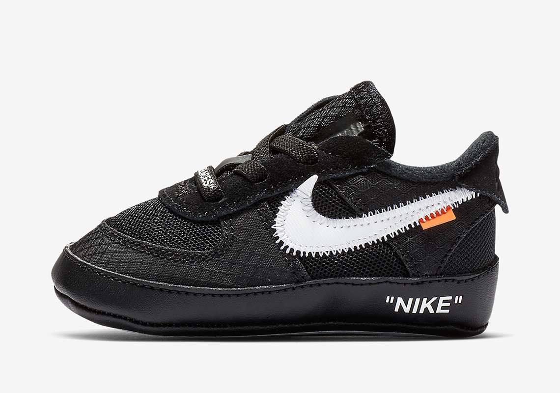 low priced e60de 5643e The Off-White x Nike Air Force 1 In Black Is Releasing In Toddler Sizes