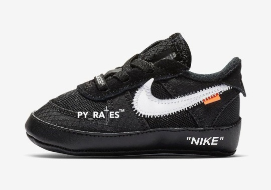 The Off-White x Nike Air Force 1 In Black Is Releasing In Toddler Sizes